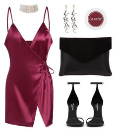"""Wine me"" by baludna ❤ liked on Polyvore featuring Marina J., Versace, Yves Saint Laurent and Graine"