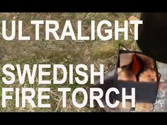 Titanium Ultralight Backpacking Stove Pre-Fuel Swedish Fire Torch Method...