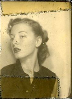 vintage photo booth #photo #girl #vintage