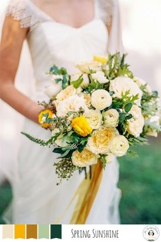 Vendor spotlight petal flower company yellow wedding flowers 5 perfect palettes for a spring wedding yellow wedding flowersbride mightylinksfo
