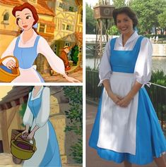 Beauty and the Beast Womens Belle Blue Dress Costume Plus Size Availab – Cosplayrr Belle Blue Dress Costume, Diy Princess Costume, Rapunzel Costume, Belle Dress, Costume Dress, Adult Belle Costume, Bride Costume, Costume Makeup, Diy Beauty And The Beast Costumes