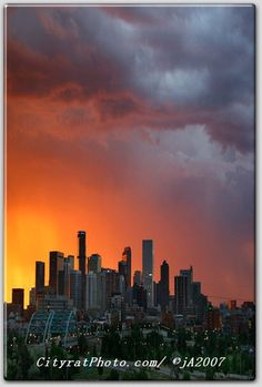 """Ah, we LOVE Denver & this beautiful photo ....""""Denver Skyline"""" by John Ambrosino – 888 Market Street. Check out the site for fantastic original art and unique products."""