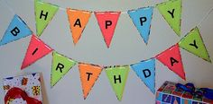 Happy Birthday Banner printable from ActivitiesForKids.com