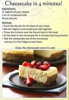 4 min cheesecake