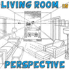 Great Academic Drawing Tutorial on drawing a room in 3 point perspective. So hard to find something like this. A Tutorial for How to Draw a Room with Multiple Vanishing Points in Correct Perspective Room Perspective Drawing, 3 Point Perspective, How To Draw Perspective, 3d Drawing Techniques, Drawing Skills, Learn Drawing, Drawing Drawing, How To Draw Steps, Learn To Draw