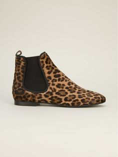Pretty Ballerinas Leopard Print Ankle Boot in Brown (black) - Lyst