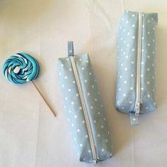 Coudre une trousse scolaire bleue à petits pois - Marie Claire Idées