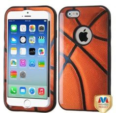 iPhone 6 Plus, 6, 5/5S 5C, 4/4S - Sporty Hoops Basketball Theme Tough Case