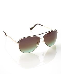 8ee5e987ea1 Love this Gold In Flight Pilot Sunglasses by Jessica Simpson Collection on   zulily!