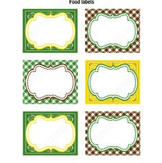 John Deere Inspired Printable Food Labels