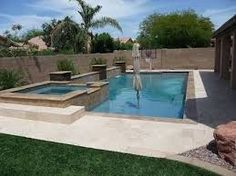 Image result for rectangle pool landscaping small