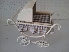 Dolls house pram Baby Carriage Miniature by SmallthingsbyAmanda, £4.95