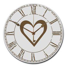Wanduhr rund Herz aus MDF  Weiß - Das Original von Mr. & Mrs. Panda.  Eine wunderschöne runde Wanduhr aus hochwertigem MDF Holz mit goldenen Zeigern und absolut lautlosem Uhrwerk    Über unser Motiv Herz  Wir haben etwas auf dem Herzen, können jemanden ins Herz schließen, mit ihm ein Herz und eine Seele sein oder jemanden das Herz brechen. Das Symbol Herz, steht nicht nur für die Liebe, sondern auch für Leben. Das Herz ist ganz klar, das Symbol der Liebe und des Lebens und die Liebe ist eine…