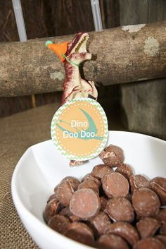 Party food idea: Dino Doo Doo. Bet his could make a fun baby shower game too... ;-) @Kristin :: Teal White Garden :: Teal White Garden :: Teal White Garden Strickland