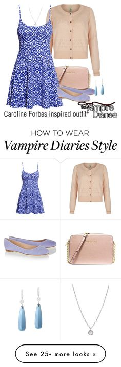 """""""Caroline Forbes inspired outfit/TVD"""" by tvdsarahmichele on Polyvore featuring MICHAEL Michael Kors, H&M, Sergio Rossi and Finn"""