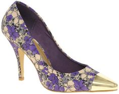 ASOS SIDNEY Pointed High Heels with Metal Toe Cap, dress up jeans with these amazing shoes £ 45