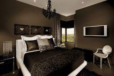 black bedroom design | Interior Design Decorating
