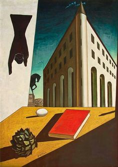 Giorgio de Chirico. Mystery and Melancholy of a Street. 1914. Oil on canvas. 88 x 72 cm. Private collection.