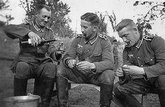 Soldiers Of The Wehrmacht. Nightcap drink.. until you peel potatoes-wine go sour.