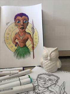 #африканец #африка #афро #абориген #персонаж #арт #рисунок #скетч #скетчбук #графика #иллюстрация #2016 #Afro #african #africa #abo #aborigine #art #draw #sketch #sketchbook #graphic #illustration #doodle