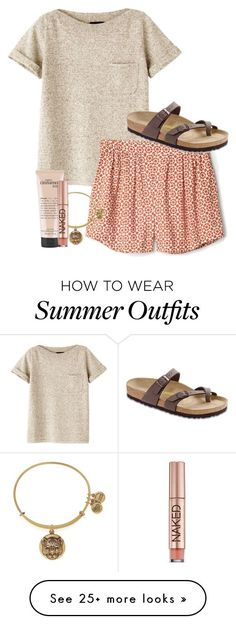 """Summer Outfit"" by simply-grace on Polyvore featuring A.P.C., Alex and Ani, philosophy, Urban Decay and Birkenstock"