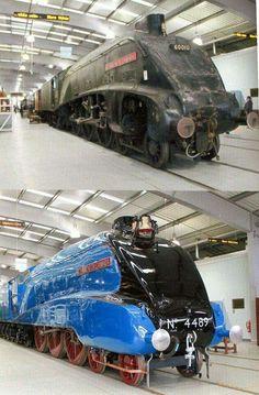 trains of world Old Trains, Hobby Trains, Old Steam Train, Road Pictures, Diesel, Steam Railway, Bonde, Train Art, British Rail
