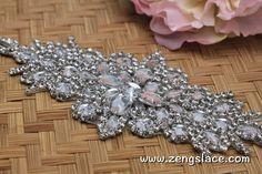 Rhinestone Sash/Wedding Sash/Bridal Sash/Wedding Dress Belt/Wedding Be | Zeng's Lace
