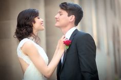 Classic Black, White & Red Wedding In California