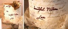 Lace & Love Letters Dessert Table
