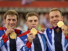 Chris Hoy, Philip Hindes and Jason Kenny won the team sprint in the velodrome