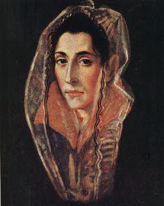 Portrait of a Lady El Greco Oil on wood panel John G Johnson Collection Philadelphia Canvas Art - El Greco x Spanish Painters, Spanish Artists, Art Espagnole, Renaissance Kunst, Hieronymus Bosch, Philadelphia Museum Of Art, Philadelphia Pa, Caravaggio, Female Portrait
