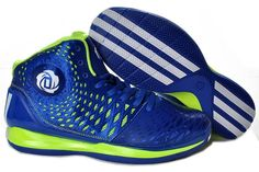 Adidas AdiZero Derrick Rose 3.5 Blue/Electric Green Basketball 2013 Shoes