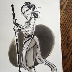 today's doodle - DM me if you'd like to own a piece of my original art :) #rey #starwars #theforceawakens #sketchbook #artwork by nathangreno