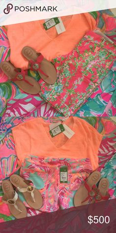FULL NEW LILLY PULITZER OUTFIT / JACK ROGERS - OS OUTFIT IDEAS: FULL NEW LILLY PULITZER OUTFIT / JACK ROGERS - OS. Top is XXS/XS - Bermuda Shorts are 00 or 2 - 2-pocket shorts - 6 - Pink Jack Rogers are 7.5 / White Jack Rogers are 7.5. LMK if interested in any and all pieces and I'll put together a great bundle! Lilly Pulitzer Shorts