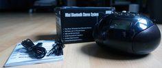 Mini Bluetooth Stereoanlage – Tragbares Radio mit Bluetooth-Funktion, SD Kartenleser, USB und AUX Eingang