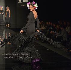 traje de flamenca canastero negro amparo macia simof 2015