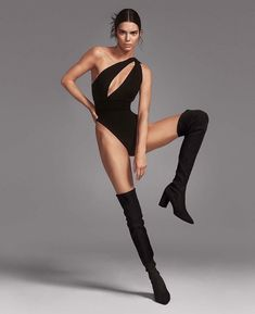 Kendall Jenner poses in scanty leotard and thigh-high boots as she gets flexible for sultry shoot - Mirror Online fashion model runway beauty catwalk fashion model models plus size fashion fashion week modeling fashion show High Fashion Poses, Fashion Model Poses, Fashion Tips, Photoshoot Fashion, High Fashion Shoots, Fashion Fashion, Model Poses Photography, Modelling Photography, High Fashion Photography