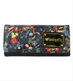 76eb27b7e4 Black Skull Flower Wallet How To Look Rich