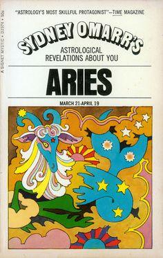 John Alcorn, Zodiac, 1969. Cover illustration for Sydney Omarr's Astrological book series. Via MewDeep6
