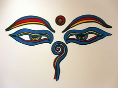eye of bhudda painted on a wall - Google Search