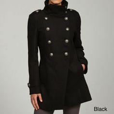 Grane Women's Double-breasted Military Coat | Overstock.com
