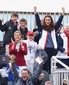 9/2/2012: Day 4 - Men's & Women's Rowing Finals, with Sophie, Countess of Wessex & Lady Louise (Dorney, Buckinghamshire)