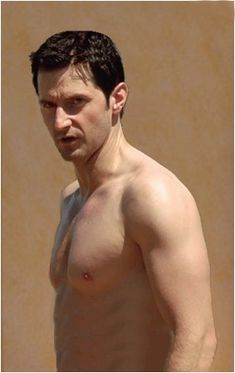 I've always been one to worry not matter who it might be, when I see a person's ribs sticking out like this. I just want to fatten them up just a bit so they won't be so noticeable. Just a bit. (John Porter - Strike Back - richard-armitage Photo