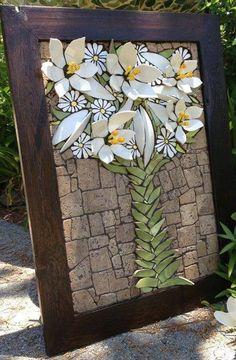 Easter Lillies by Nikki Murray-Mason, Nikki Inc Mosaics Mosaic Artwork, Mosaic Wall Art, Mosaic Diy, Mosaic Garden, Mosaic Crafts, Mosaic Projects, Stained Glass Projects, Stained Glass Art, Mosaic Glass