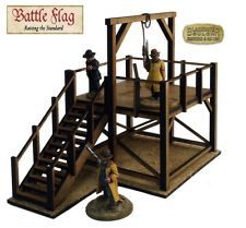 28mm Old Wild West Gallows Building Kit - Laser Cut MDF. Malifaux WWX Exodus