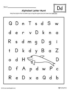 Alphabet Letter Hunt: Letter D Worksheet Worksheet.The Letter D Alphabet Letter Hunt is a fun activity that helps students practice recognizing the uppercase and lowercase letter D.