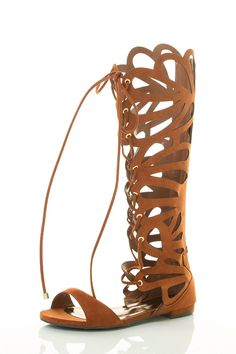 Breckelle's Women's Open Toe Gladiator Knee-high Cut-out Lace-up Low Heel Sandal ** Additional details found at the image link  : Lace up sandals