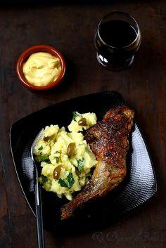 Poulet rôti à la moutarde et à la crème