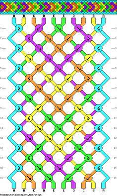10 strings, 16 rows, 5 colors
