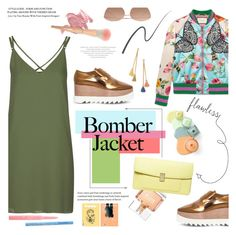 """""""Light Topping: Summer Bomber Jackets"""" by bklana ❤ liked on Polyvore featuring Gucci, Topshop, Givenchy, STELLA McCARTNEY, Dorothy Perkins, Linda Farrow, Ben-Amun, Christian Dior, Too Faced Cosmetics and Stila"""